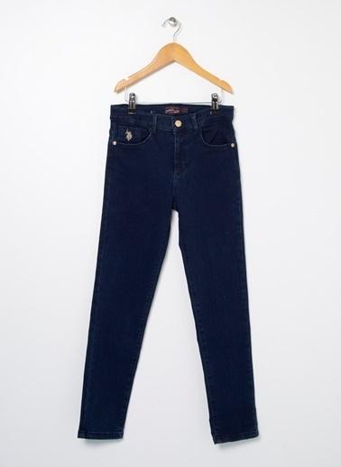 U.S. Polo Assn. U.S. Polo Assn. Mavi Kız Çocuk Denim Pantolon Mavi